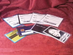 ウェルダー加工商品 カード入れ 名刺サイズ 在庫管理タグ