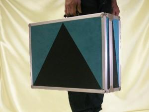 ねぎ型サイリウム用ケース(携帯した様子)