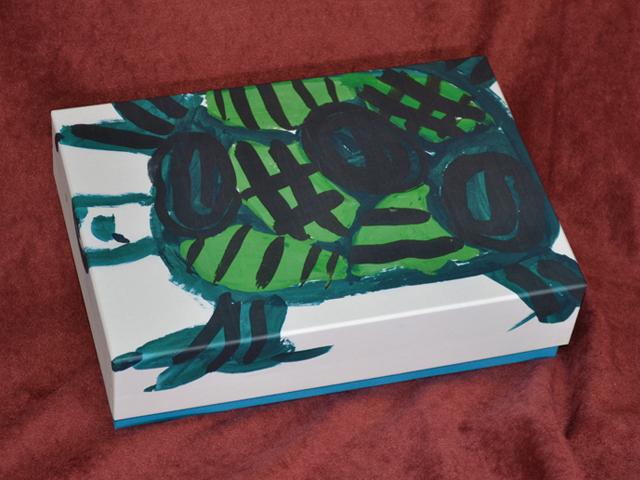 力作くん 亀の絵(こども、子ども、子供、孫の絵)フラット