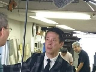 土曜はダメよ取材風景 西川忠志