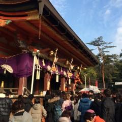 2016年初詣 八坂神社 境内 東山 祇園