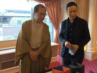 門川京都市長が来訪(京都展2017)
