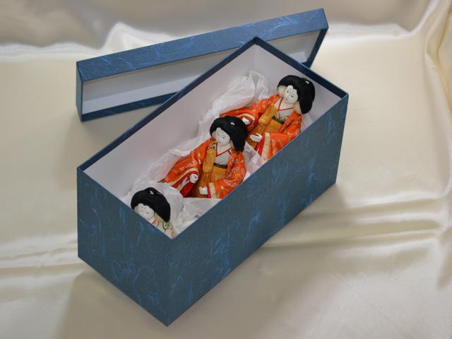 雛人形の収納ケースの新調(三人官女)