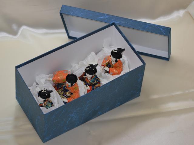 雛人形の収納ケースの新調(五人囃子)
