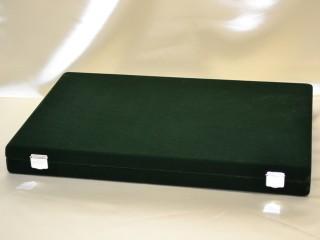 緑のベルベット収納ボックス(外観)