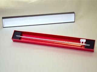 漆風(フタ:黒、身:赤) HPLC Clumn ケース(貼箱、紙器、紙箱)(横長)