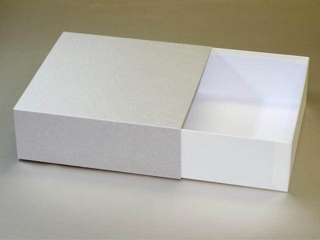 洋菓子用スリーブ式紙箱(白:オープン時)