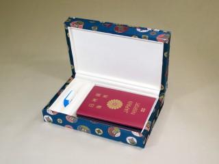 想い出のパスポート Box ~USBメモリー付 金襴~ 「第75回東京ギフトショー2013春」出展商品