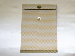 書類・図面ケース[A4サイズ ベージュ:金襴](外観裏)