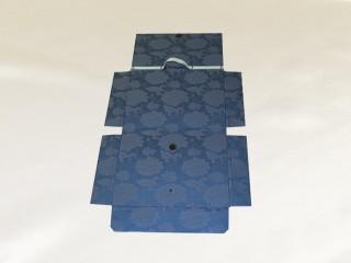 書類・図面ケース[A3 紺:牡丹:金襴](構造:外側)